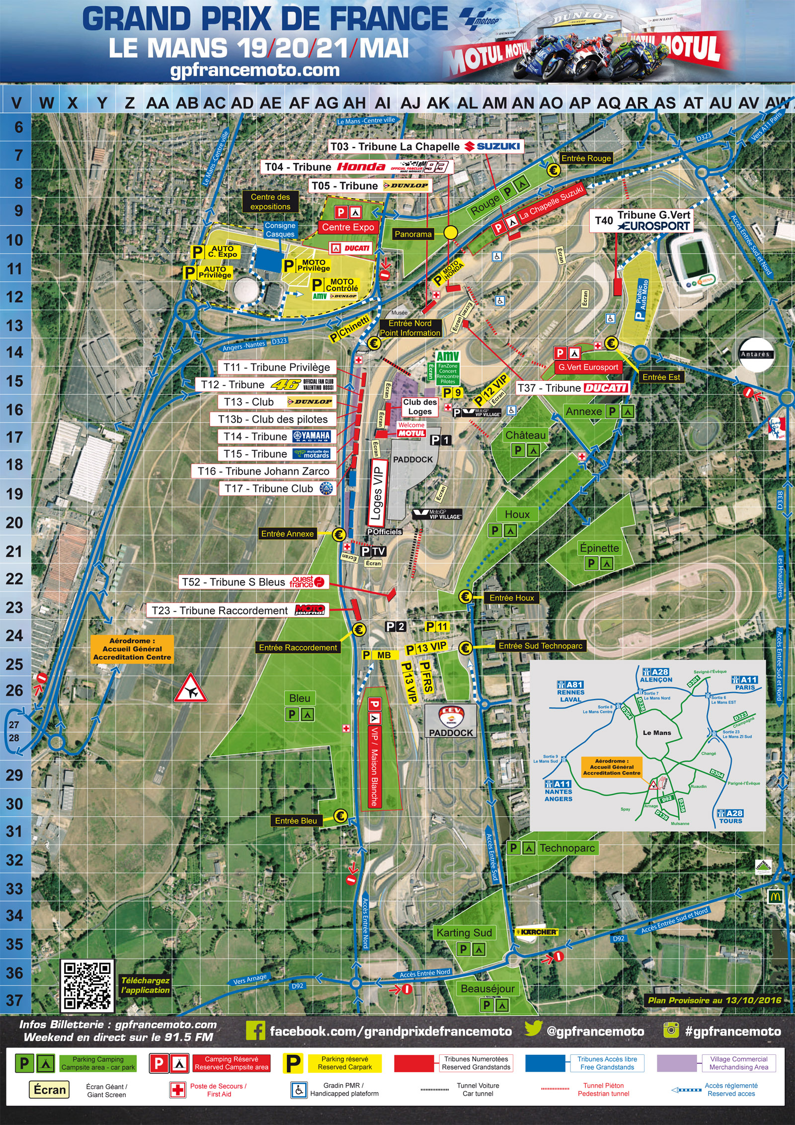 Le Mans Circuit Map Circuit map | FRENCH MOTORCYCLE GRAND PRIX   Le Mans   2017